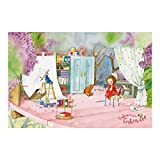 Vliestapete–Fensterbild Erdbeerinchen Erdbeerfee–Handwerk Arbeit Stunde–Wandbild breit