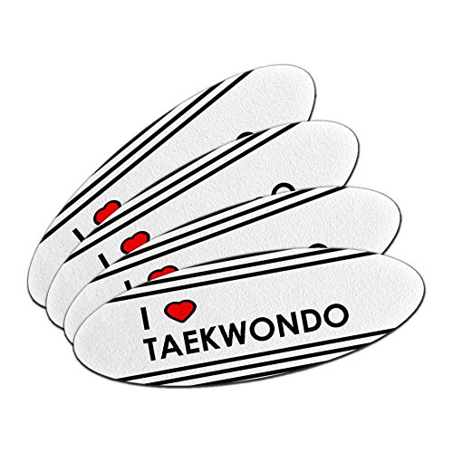 I Love Heart Taekwondo Double-Sided Oval Nail File Emery Board Set by Graphics and More