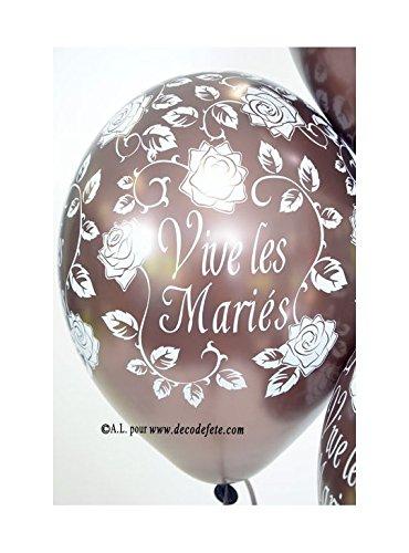 Belbal 6Luftballons Vive les Mariés Schokolade Perlmutt Chocolat Nacré -