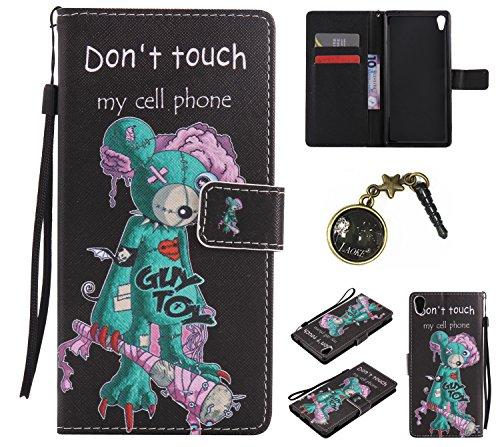Preisvergleich Produktbild PU Abdeckungs-Fall für Sony Xperia XA Ultra (Nicht Sony Xperia XA) PU-Mappe Kasten Schutzhülle Geldbörse , Kreditkartenschlitz , Silikon Schutzhülle Handyhülle Painted zum Schutz + Staubkappe (10EE)