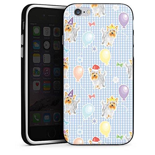 Apple iPhone X Silikon Hülle Case Schutzhülle Hunde Yorkshire Geburtstag Silikon Case schwarz / weiß