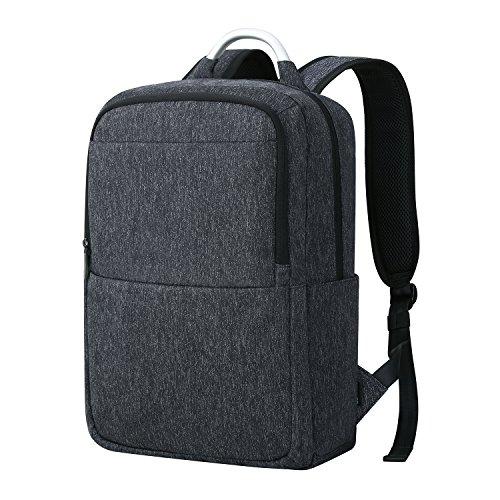 """REYLEO Zaino per Computer Portatile da 15.6 """" Zaino porta pc impermeabile con il manico di alluminio per università o scuola Backpack uomo business da 23 L ( Blu scuro)"""