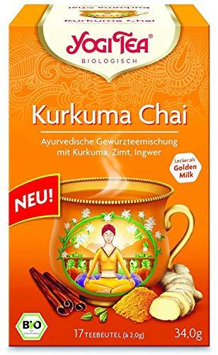 Yogi Tee Kurkuma Chai - 17 Tee Beutel - Yogi Tea - Goldene Milch- AB 30,- EURO VERSANDKOSTENFREI in D! -