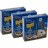 3x Raid Night & Day Trio Insekten Stecker Nachfüller, gegen Mücken, Fliegen & Ameisen
