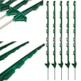GREEN PLASTIC FENCING PINS 1m high forTemporary Fencing x 10