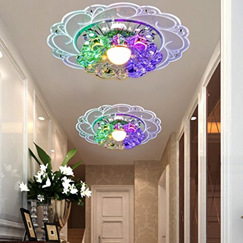 Lamp LU plafond LED Crystal Corridor Alloy (Couleur : A)