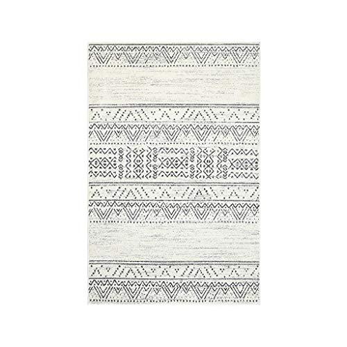 Teppiche JXLBB Polypropylen 1.33x1.9m Marokkanischer Stil Plus weich gepolsterte Wohnzimmer Couchtisch Decke Schlafzimmer Bettdecke Decke Polypropylen Geometric Diamond Soft & Warm