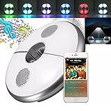 Lámpara para Sombrilla,Luz Parasol 64 LED inalámbrico con Bluetooth 3.0 USB recargable altavoz de audio Iluminación Nocturna para Sombrillas y Paraguas de Playa, Patio, Jardín y Piscina