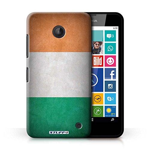 Kobalt® Imprimé Etui / Coque pour Nokia Lumia 630 / Amérique/americain conception / Série Drapeau Irlande/irlandais