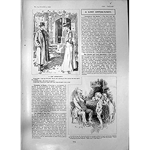 Stampa Antica di Golf Homburg1903 di Rhona Adair dell'Avvocato di Occasione Persa di Humourr