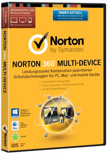 Norton 360 Multi Device 2.0 - 5 Geräte (PC, MAC, Android, iOS) (DVD-Box)