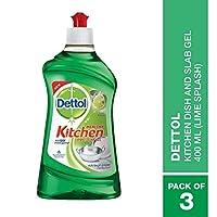 Dettol Kitchen Dish and Slab Gel Lime Splash - 3 packs 400 ml each