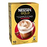 Nescafé Gold Typ Cappuccino Entkoffeiniert, Löslicher Bohnenkaffee, Instantkaffee, 10 Portionen, 12233771