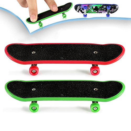 ONEDONE professionell mini Fingerboard Kinderboard Fingerskateboard Skateboard 2 Stücke(Motive nach dem Zufall versendet)