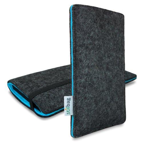 Stilbag Filztasche 'FINN' für Apple iPhone 6 - Farbe: anthrazit/azur