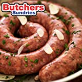 8 Meters of Easy to Use Sausage/ Hog Casings/Skins on Tubes/Tapes Size 32/34mm - Breakfast Sausage