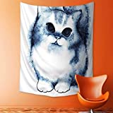daawqee Wall Hanging Tapestries Wall Art Tapestries Wall Tapestries Cute Kitty Paint...