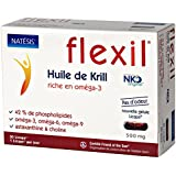 NATESIS Huile de Krill/100% Pure NKO 500 mg/30 Capsules