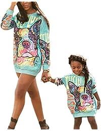 Madre Hija Sudadera con Capucha Ropa Familiar Camisa A Juego Ropa Estampada Sudadera Pullover Top