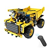 Fcostume 1:18 DIY Assemble RC Cars Alloy 2.4G Radio Control Brick Trucks Toys Gift (As Shown)