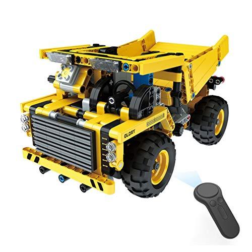 DIY RC Racing Car, Mamum 1:18, DIY Montieren RC Cars Legierung 2,4 G Radio Control Brick Trucks Spielzeug Geschenk Einheitsgröße C (Car Racing Kostüm Für Jungen)