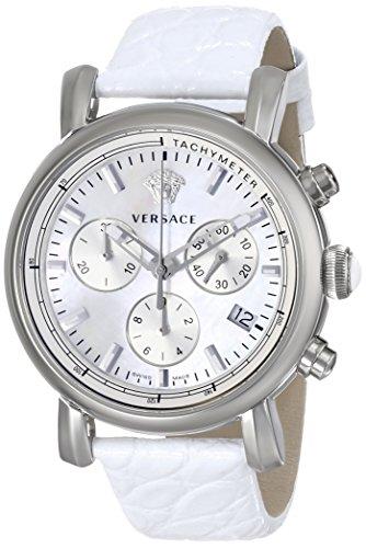 Versace Reloj Cronógrafo para Mujer de Cuarzo con Correa en Cuero VLB010014