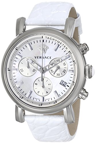 Versace Damen Chronograph Quarz Uhr mit Leder Armband VLB010014