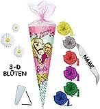 mit 3-D Blumen Applikation ! - Schultüte -