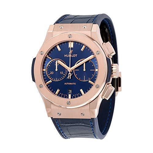 Hublot Classic Fusion Blue Sunray Dial 18K King Gold orologio automatico da uomo 521.OX.7180.LR