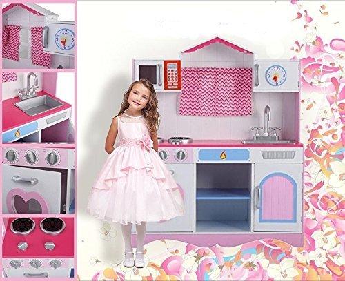 Allkindathings - Juego de Juguete para niñas de tamaño Grande, Color Rosa