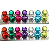 KING DO WAY 14 Stk. Starke Neodym Magnete Kegelmagnete N35 Ø18X16mm Super Magnet Pinnwand Büro Chess