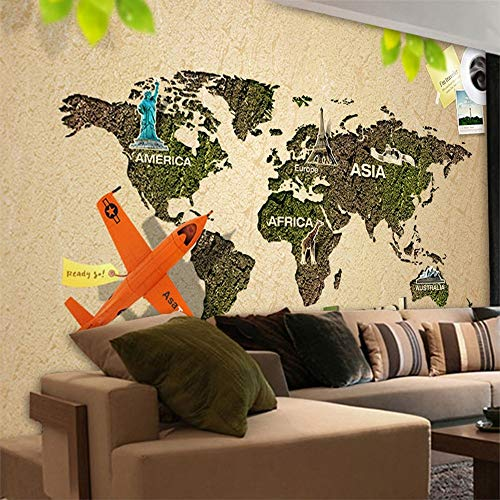 Wallpaper Fototapete WJbxx Wandtapete Tapete Große Europäische Kreative 3D-Reise-Wallpaper-Tapete Cafe Bar Nostalgic Theme Mural Travel Agency Wallpaper (Reise Wallpaper)