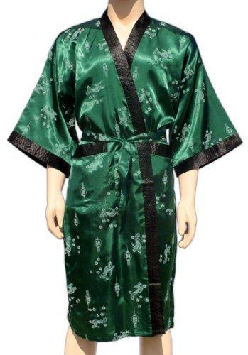 8851562999040 EAN - Grün Kimono Mit Asiatischen Muster Morgenmantel ...