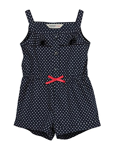 Beebay Infant-girl 100% Cotton Heart Print Jumpsuit (Navy,2-3 Years)