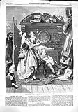 original old antique victorian print IMPRESSION 1860 d'ANTIQUITÉ de CRITIQUE de PEINTURE d'ART de MAISON FAMILIALE [Cuisine et Maison]