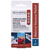 Sea-Band Anti-Nausea Ginger Gum (24 Pieces)