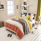 300tc pastoral style + pure cotton + pflanze blumen + vier-stück-set(1quilt cover +1bett skirt +2kissenbezug)-O Twinch2
