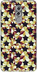 The Racoon Lean printed designer hard back mobile phone case cover for Huawei Honor 6X. (Dark Geome)