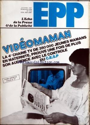 echo-de-la-presse-et-de-la-publicite-lo-no-1113-du-18-12-1978-videomaman-oco-la-4e-chaine-tv-de-3500