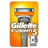 Gillette Fusion Maquinilla de Afeitar + 5 Recambios, Paquete Apto para el Buzón de Correos