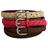 Creature Combo of Girls Belts(Color-White ,Pink,Brown||CMB-WHTPNKBRN-01