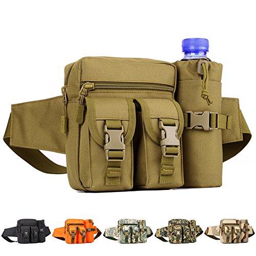 Yuhan escursioni Waistpacks esterna marsupio Water Bottle Holder tasca marsupio Molle hip, Khaki Khaki
