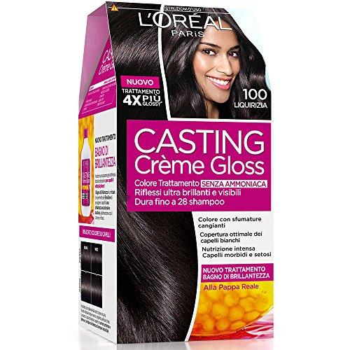 L'Oréal Paris Casting Crème Gloss Colore Trattamento senza Ammoniaca, 100 Liquirizia