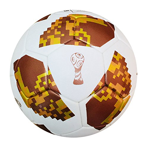 World Cup Fußball 2018 Russland Gold Farbe First Rate, Top Match Ball Größe 5 - Spedster (World Soccer Cup Replica)