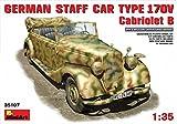 "Miniart 1:35 Scale ""German Staff Car 170V Cabrio"" Plastic Model Kit"