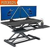 Best Adjustable Height Desks - PUTORSEN Standing Desk Height Adjustable Sit Stand Desk Review