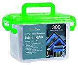 300 Electric Blue Snowfall Effect L.E.D. Icicle Lights