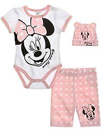 Disney Minnie Babies Body mit Leggings und Mützchen - rosa
