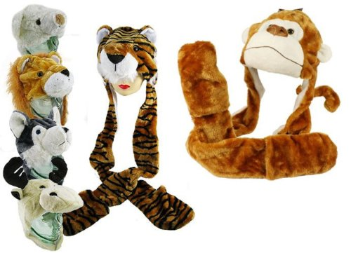 EUROOA FASHIONS Jungen Schal & Handschuh-Set Monkey Face (Hüte Monkey Für Erwachsene)