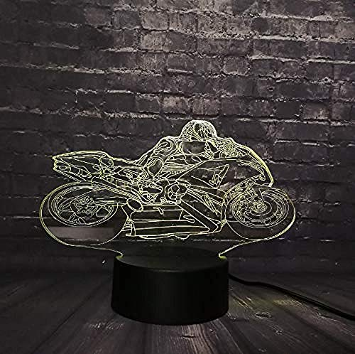 Nachtlicht 3D Led Nachtlicht Schreibtisch Tisch Motorrad Wettbewerb Sammeln 7 Farbwechsel Junge Kind Spielzeug Usb Basis Schalter Kreativ -